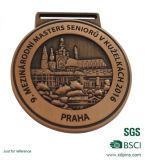 Médaille de sport de tennis d'or et d'argent avec la meilleure qualité