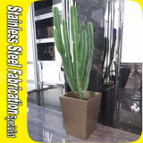 Nach Maß Edelstahl-Blumen-Potenziometer-rechteckiger Pflanzer-Kasten
