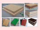 Folha colorida da madeira compensada/materiais internos da decoração/madeira compensada fina