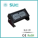 24V / 220V / 110V / 120V 10 ° Lens Alumínio LED Flood Light