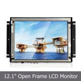 """Moniteur LCD intégré 12,1 """"avec cadre en métal pour affichage industriel"""