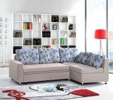 Кровать софы самомоднейшей домашней мебели угловойая складывая с хранением