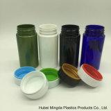 シールが付いている最新のデザインペットプラスチック製品150mlの薬のプラスチックびん