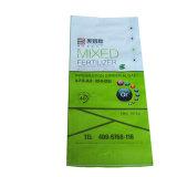 Цветная печать BOPP химических удобрений зажигания упаковки из полипропилена тканый мешок