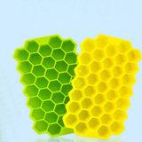 Forma de favo de mel aprovada pela FDA Personaliza a Bandeja de Cubo de Gelo com Sillicone de Comida