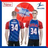 판매를 위한 연소한 t-셔츠를 인쇄하는 Healong 형식 디자인 스포츠 의복 기어 열전달