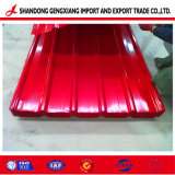 De acero con recubrimiento de color PPGI/PPGL Hoja de techos de cartón ondulado
