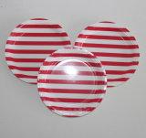 Piste rose 7 pouces de plaque à papier avec le logo fait sur commande