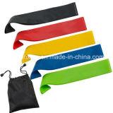 Las vendas del lazo de la resistencia fijan de 5 vendas que 5 opciones de la resistencia libres llevan el bolso venda del ejercicio de 12 pulgadas