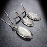 Комплект ювелирных изделий горячего цвета серебра деталя сбывания кристаллический большой каменный
