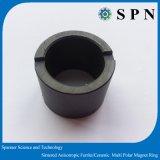Ímã de Anel de ferrite permanente magneto anisotrópica para Motor de corrente contínua