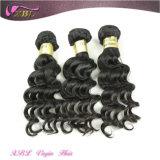 Пачки волос популярной Unprocessed бразильской девственницы оптовой продажи волнистых волос бразильские
