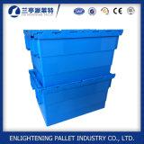 Container Storgae van het Gebruik van het Vervoer van de logistiek de Plastic met Deksel