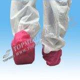 Cubierta impermeable roja del zapato del PVC o cubierta del zapato del plástico