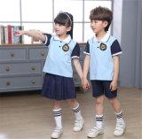 De Eenvormige Borrels van de Kleding van de Overhemden van het Polo van kinderen van Lage school