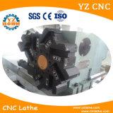 CNC de torneado de alta velocidad del torno de la base plana que trabaja a máquina el torno de torneado automático