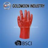 Коллоидные частицы PVC с перчаткой работы безопасности запястья руки Knit Джерси