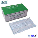 Máscara protetora não tecida descartável médica 3 dobras