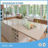 Countertop кварца кухни белой звезды Sparkle искусственний каменный