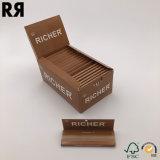 Papiers à cigarettes brûlants lents de goût gentil roulant le fumage