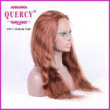 Encaje peluca delantero brasileño para la mujer con bebé cabello ondulado, se puede teñir de color más oscuro