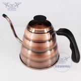 1200ml Gooseneckのコーヒー手の滴りのやかんのステンレス鋼のコーヒー鍋のハンドメイドのコーヒー