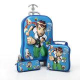 子供のトロリーLugggage 1つの袋に付きかわいい方法マンガのキャラクタ3つ