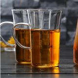 Tazza di tè senza piombo di vetro di Borosilicate con la maniglia