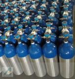 녹색 파란 목, 은 바디 의학 D 크기 O2 실린더