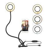 Amazon produit chaud LED de batterie Selfie éclairage annulaire 36 LED anneau monté Universel pour téléphone mobile