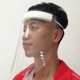 Em estoque na fábrica para o Rosto de segurança resistente a fluidos máscara facial inteira transparente de protecção do Visor de máscara de proteção facial