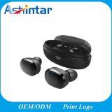 Estéreo duplo fones de ouvido sem fio Bluetooth Bass V5.0 Fone de ouvido viva-voz
