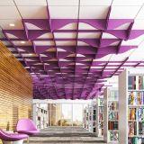 Fibre polyester résistant au feu de déflecteur Acoustique / Plafond acoustique