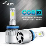 Pièces auto des feux de conduite automobile LED 36W 4000lm voiture COB LED feux à LED 6000K H7 Eclairage auto S2