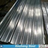 La hoja acanalada galvanizada del material para techos, cubre con cinc el material para techos revestido galvanizado