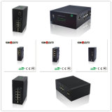 Schnelles Ethernet, Saicom (SCSW-06042) industrieller Netz-Schalter der Doppelder faser-LC/SFP 20KM Strahlungs-12V~36V mit Schutz-Blitzschutz 6KV/IP30