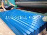 Folha de aço perfilada ondulada Prepainted da telhadura da telha/metal da cor