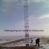 torre Telecom de aço do fio de indivíduo de 10-80m