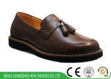Здоровья бизнесменов кофеего/Brown ботинки удобного вскользь кожаный