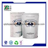 Aceite sacos de embalagem de plástico personalizados com fecho de correr