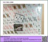 Impression offset à feuilles PVC film plastique blanc PVC