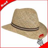 Chapéu de Panamá unisex da palha do verão do Fedora