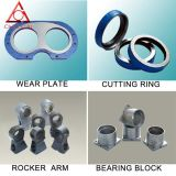Pump concreto Spare Parte, Wear Plate, Cutting Ring, Rocker Arm, Bearing Block en China