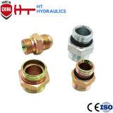 adattatore del 1b Bsp adattatore idraulico maschio del tubo flessibile del montaggio di tubo flessibile della sede da 60 gradi