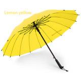Автоматический открытый зонтик стекла волокна 16k прямой с изготовленный на заказ печатание логоса