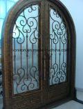 Portas revestidas do ferro feito de portas de entrada do pó bonito