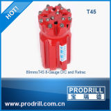 Tungsteno Carbide 51mm-152mmthread Button Bit