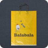 Printed Premium Plastic Shopping Bag con Handle Morbido-Loop