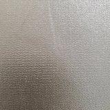 Brilho metálico prateado, couro macio couro de PVC