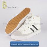Обувь вскользь и повелительниц PU вырезывания способа высоких с резиновый подошвой